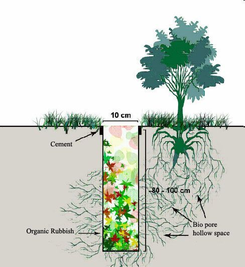 LET'S SAVE THE WATER WITH BIO PORE ABSORBING HOLE