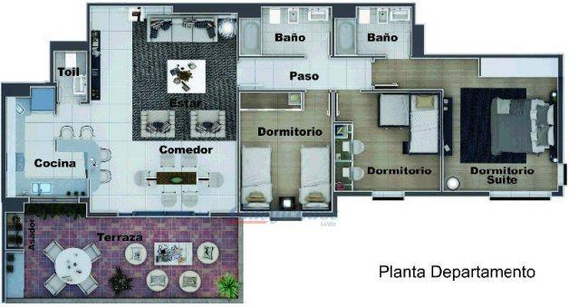 Como una Casa pero en altura en Zona Norte *3 DORM*c/Asador, Terraza y Cochera