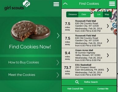 New App Helps Hungry Customers Find Girl Scout Cookies