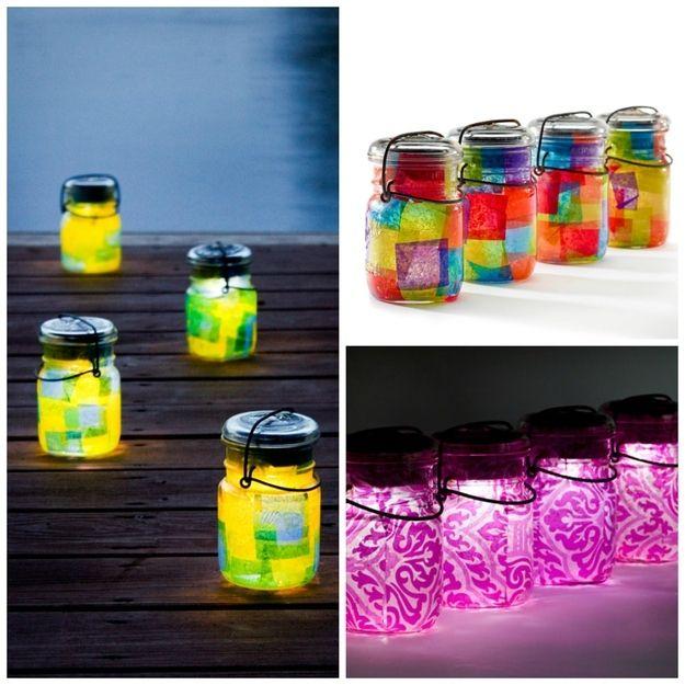 DIY: Mason Jar Solar Lights