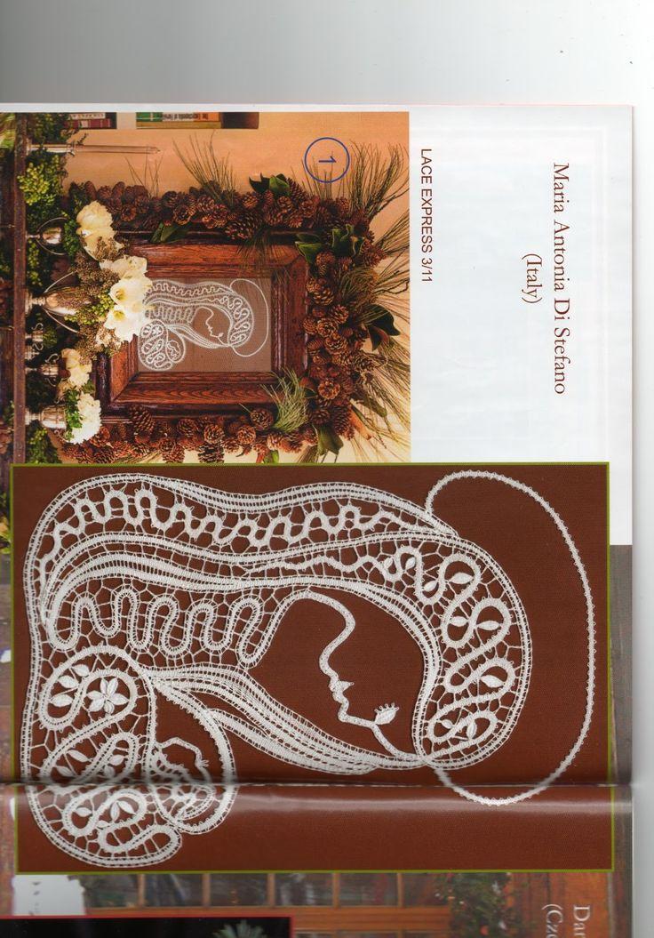di QUESTA VERGINE ho creato il disegno ed eseguito il merletto per una nota rivista internazionale specializzata in merletti a tombolo L...