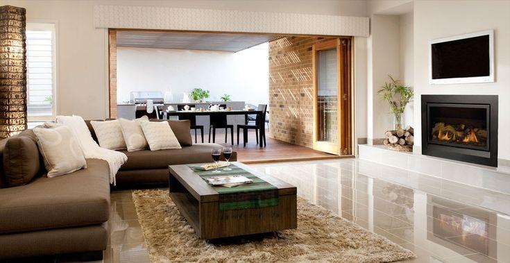 Fireplace design ideas with Heatmaster Australia Enviro Gas Fireplace | @HeatmasterAus