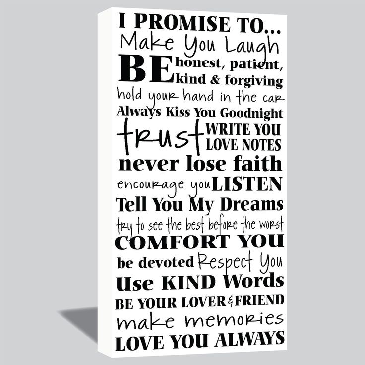 I'm going to have canvas's made with mine and my husbands wedding vows after we are married ❤️