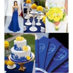 Blue and Yellow Wedding Idea