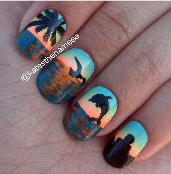 Love the ocean themed nails! - 34 Best Ocean Themed Nails Images On Pinterest Ocean, Nail Ideas