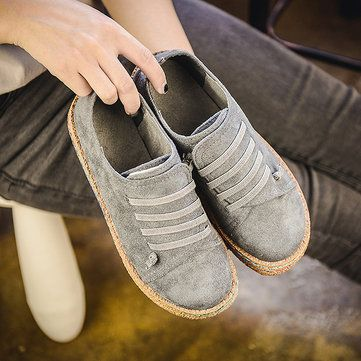 Suede Slip On Soft Loafers Lazy Casual Flat Shoes For Women is cheap and  comfortable. There are other cheap women flats and loafers online Mobile.