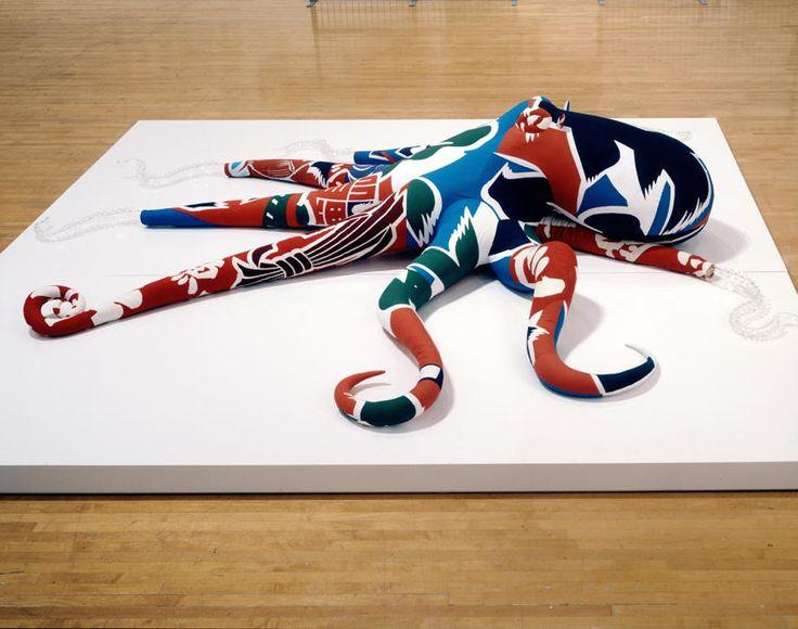 Cosima Von Bonin Decoy, (Der Krake #3) 2007 various materials 25.59 x 92.52 x 129.92 inches/65 x 235 x 330 cm