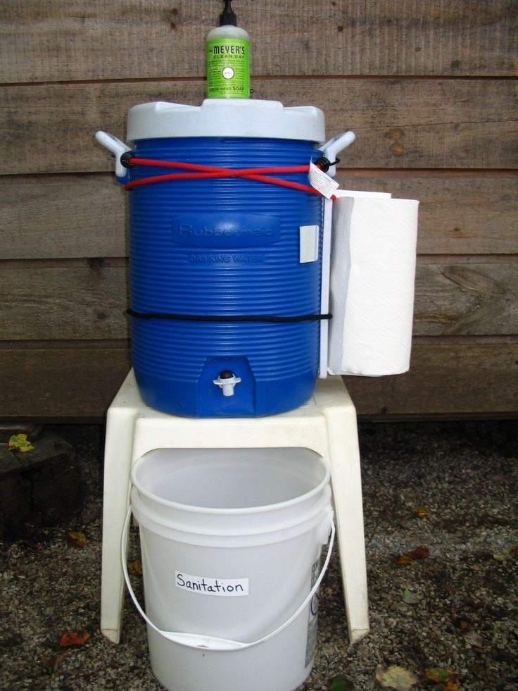 Great ideas for camping with the kiddos! (Sanitation Station for camping. Such a great idea for hand washing with little ones.)