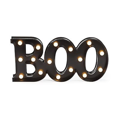 view boo lighted marquee sign deals at big lots - Big Lots Halloween Decorations