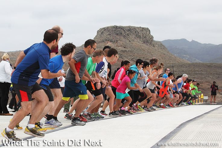 On your marks, get set - GO! With a gentle tail wind on runway 02 St Helena Airport's first runway dash is underway on 29 August (Bank Holiday) 2016.