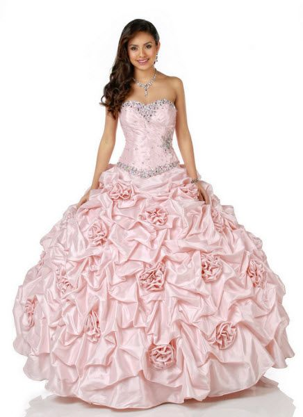 Disney launches Royal Ball Quinceanera Dress Collection For the bride who wants to wear light pink and look like a Disney princess. ..this is really pretty.