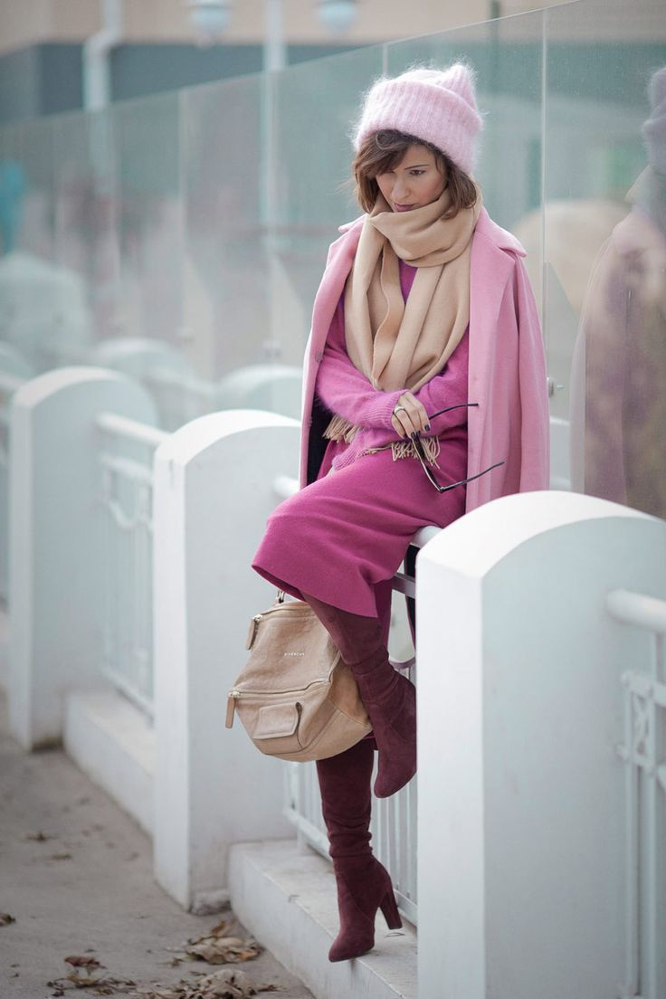 total pink, fall outfits, autumn look, culottes outfit, shades of pink outfit, Ellena Galant blog,