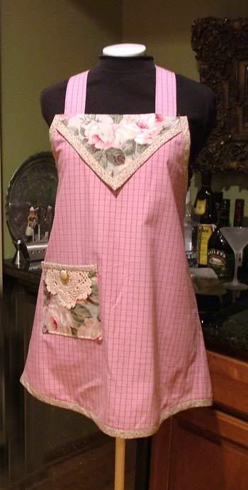 "apron made from man's shirt - otherwise known as ""Make Do"" apron - this is actually a vintage pattern"