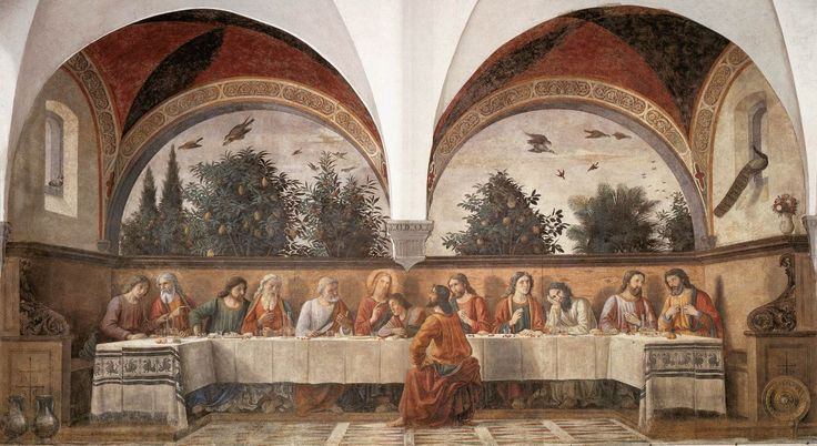 Last Supper (1476) by Domenico Ghirlandaio. Wanna see? Go to the Sant'Appolonia in Florence, I loved it!