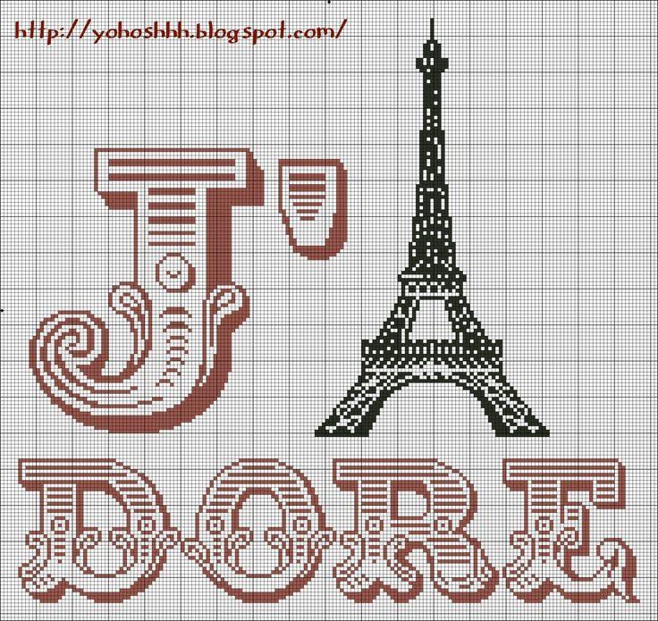 57 best France- Paris-point de croix-cross stitch images ...