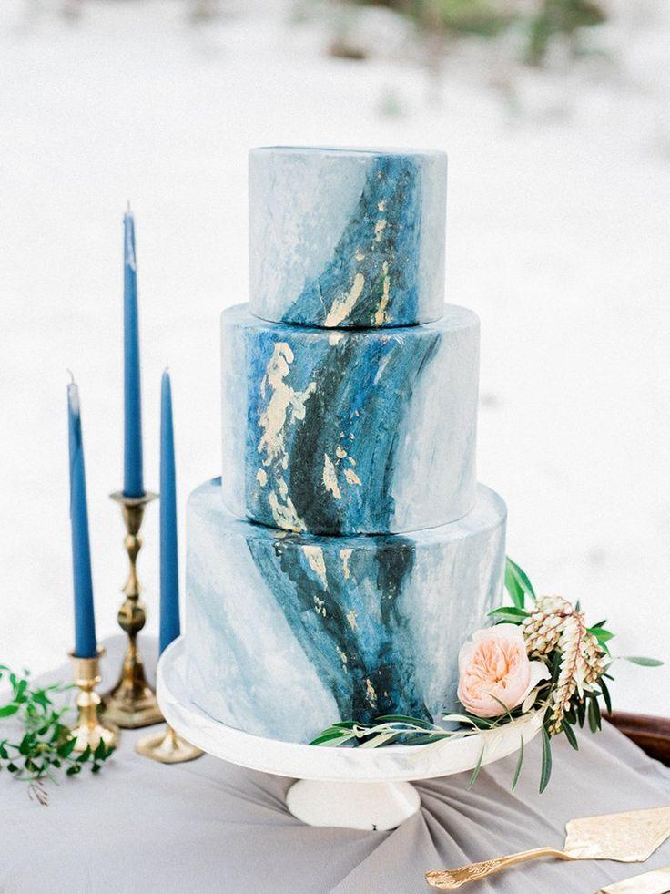 Cake by Las Vegas Custom Cake   Trending - Intimate Winter Wedding Ideas