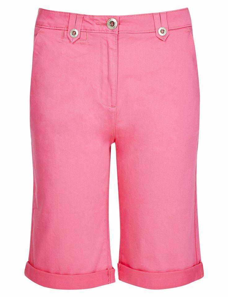 Cotton Rich Roma Rise Chino Shorts | M&S