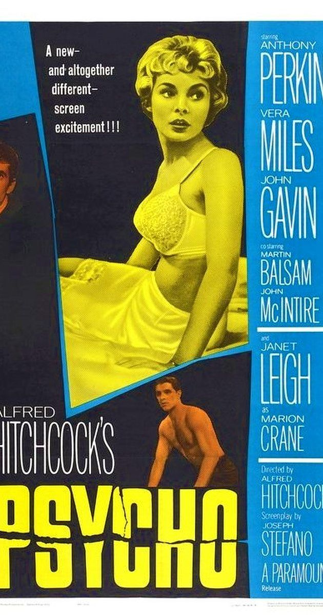Directed by Alfred Hitchcock.  With Anthony Perkins, Janet Leigh, Vera Miles, John Gavin. A Phoenix secretary embezzles $40,000 from her employer's client, goes on the run, and checks into a remote motel run by a young man under the domination of his mother.