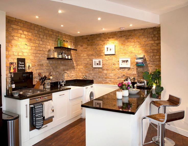 Mejores 274 imágenes de Interior Brick en Pinterest | Ladrillo ...