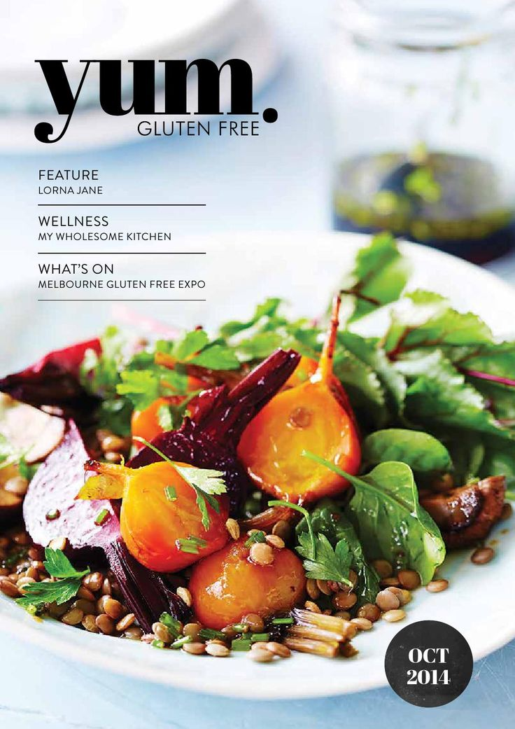 """yum. Gluten Free Magazine October 2014  The October """"Outdoors"""" edition of yum. Gluten Free is jam packed with feature stories including the one and only Lorna Jane. With over 30 recipes this issue is sure to get your taste buds going."""