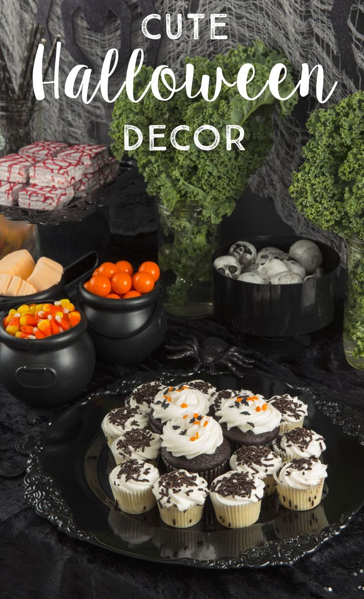 It's easy to create an upscale Halloween Party! Use lots of black serving  plates and