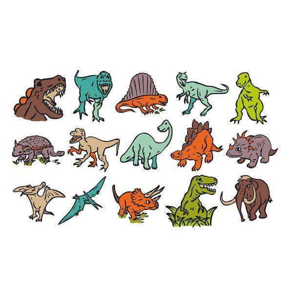 SELLOS DE GOMA PARA PINTAR INFANTILES STAMPO KIDS DINOSAURIOS 15 sellos de madera de dinosaurios. Viene con su almohadilla de tinta. Recomendado para más de 6 años. Medidas aproximadas: bote 15 x 8,5 cm Edad recomendada: A partir de 6 años #sellosestampacion #manualidades PVP: 10,90 € http://www.babycaprichos.com/sellos-de-goma-para-pintar-infantiles-stamp-kids-dinosaurios.html