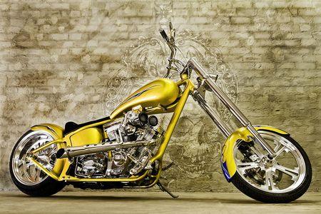 Yellow Custom Chopper - Harley Davidson Wallpaper ID 264417 - Desktop Nexus Motorcycles