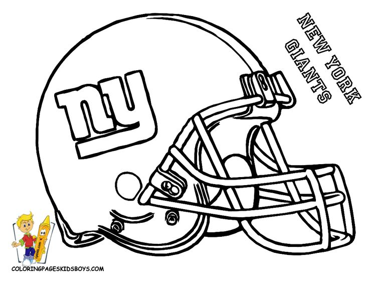 Pro Football Helmet Coloring Page Football Coloring Pages