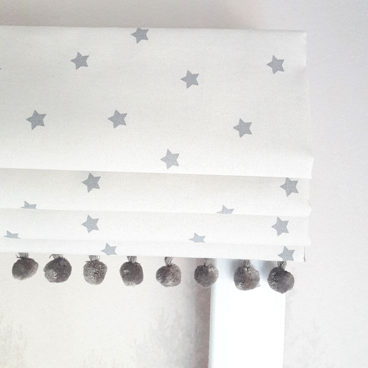 blackout blinds for baby room. Mini Grey Stars Blackout Lined Roman Blind - Made To Measure Blinds For Baby Room M