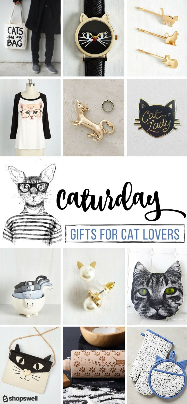 If you love cats as much as we do you totally get why Caturday is the very best day of the week. You're also going to fall in love with these fun, quirky gifts that only a cat lover can truly understand.