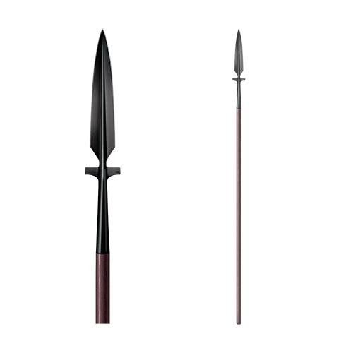 """Cold Steel 95MW MAA Wing Spear. Blade style: spear point. Handle: 65"""" ash wood. Overall length: 89"""". Steel: 1055 carbon. Type: Spear."""