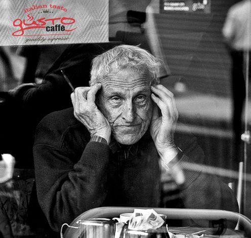 old man drinking espresso  #gusto #espresso