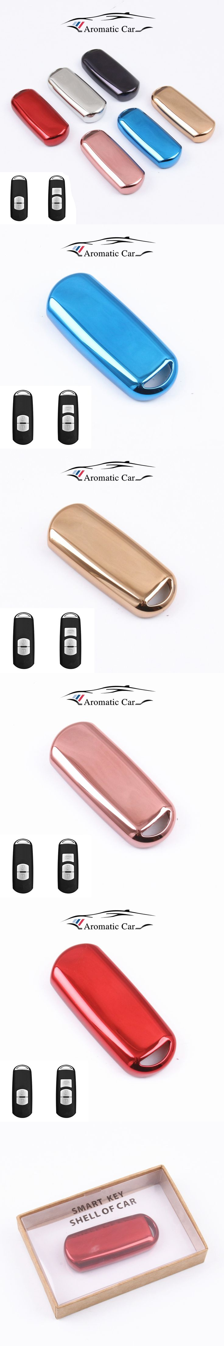TPU car key fob cover case set protect for Mazda 2 mazda 3 mazda 5 mazda 6 CX-3 CX-4 CX-5 CX-7 CX-9 Atenza Axela MX5 Car styling