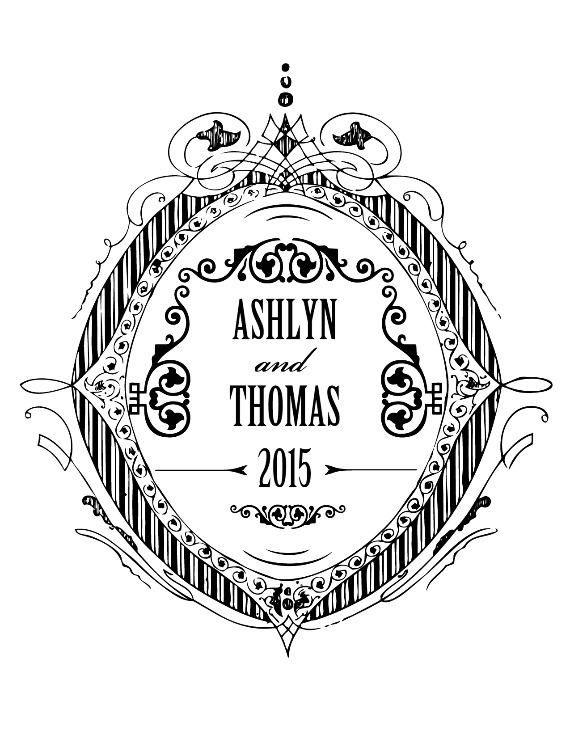 Formal Crest Free Printable Wedding Monogram