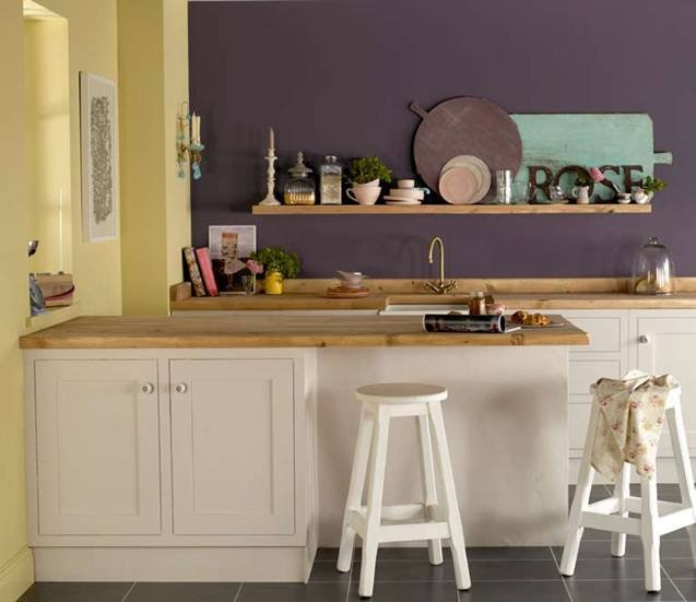 Kitchen Print Kitchen Wall Art Purple Kitchen Decor Gratitude: Experiment With More Than One Feature Wall To Get Guests