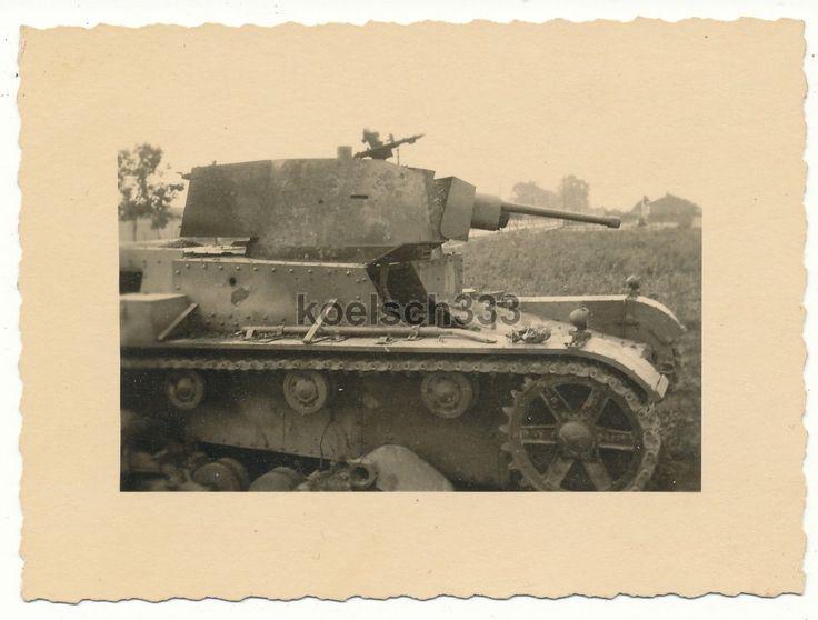 Foto von Panzerjägern vernichteter polnischer 7 TP Panzer in Polen 1939 - 31. ID   eBay