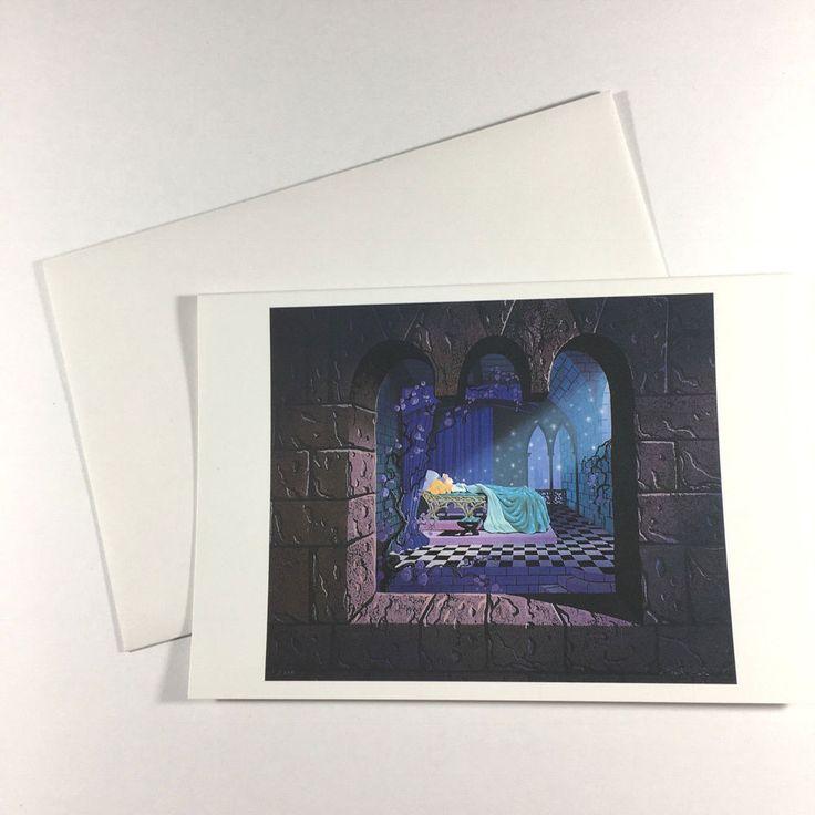 Disneyland Sleeping Beauty Notecard New old stock Eyvind Earle Art from 1969 #Disney