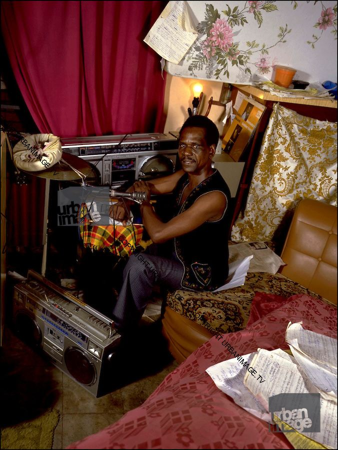 Another rare reggae boombox picture! Jackie Edwards at home in Kingston with a JVC RC-M70 and Sharp GF-9000. Who created the M70 and 9000?