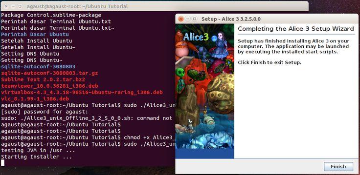 Cara Install Alice 3 di Linux Ubuntu 14.04