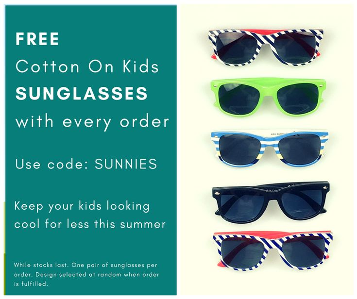 Keep your kids looking cool for less this summer! Shop & save across a broad range of brands (designer to discount) and clothing conditions (new & pre-loved). FREE sunglasses with every order (while stocks last).