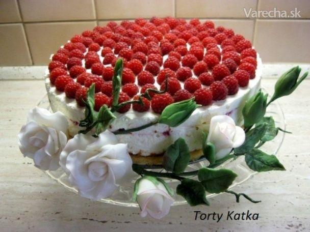 Malinová torta (fotorecept) - Recept
