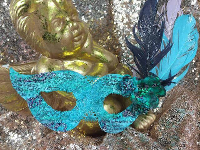 maska karnawałowa handmade