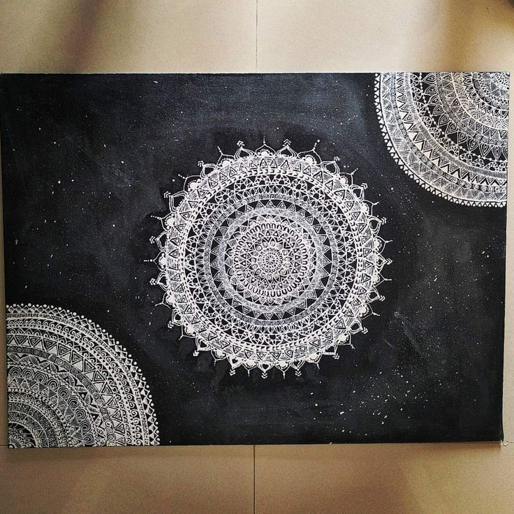 Mandala on a large canvas