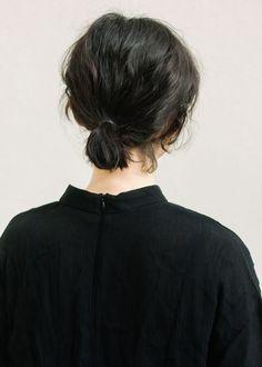 short ponytail.