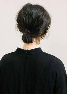 short ponytail.