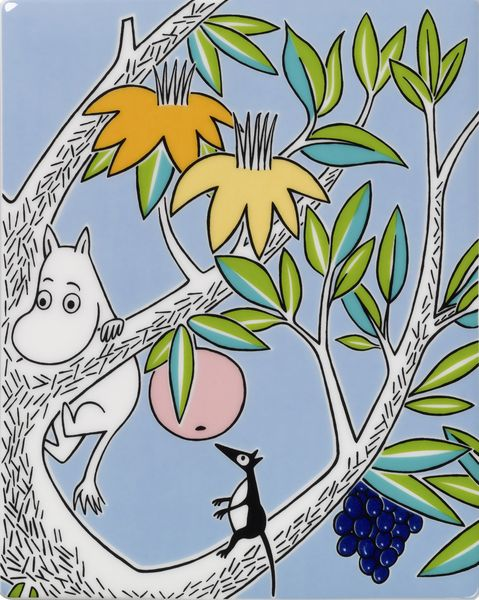 The new Moomin Deco Tree brings the world of the Moomins to interior decoration. The unique tree, designed by Tove Slotte, depicts the Moominvalley inhabitants' adventures on 13 different collectable wall tiles. http://www.skandium.com/what-s-new/moomin-deco-tree-tile-moomintroll