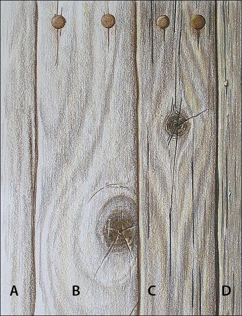 Holz malen