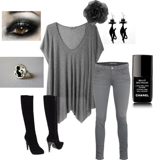 """""""Catwoman inspired outfit"""" by trinityjilliana ❤ liked on Polyvore"""