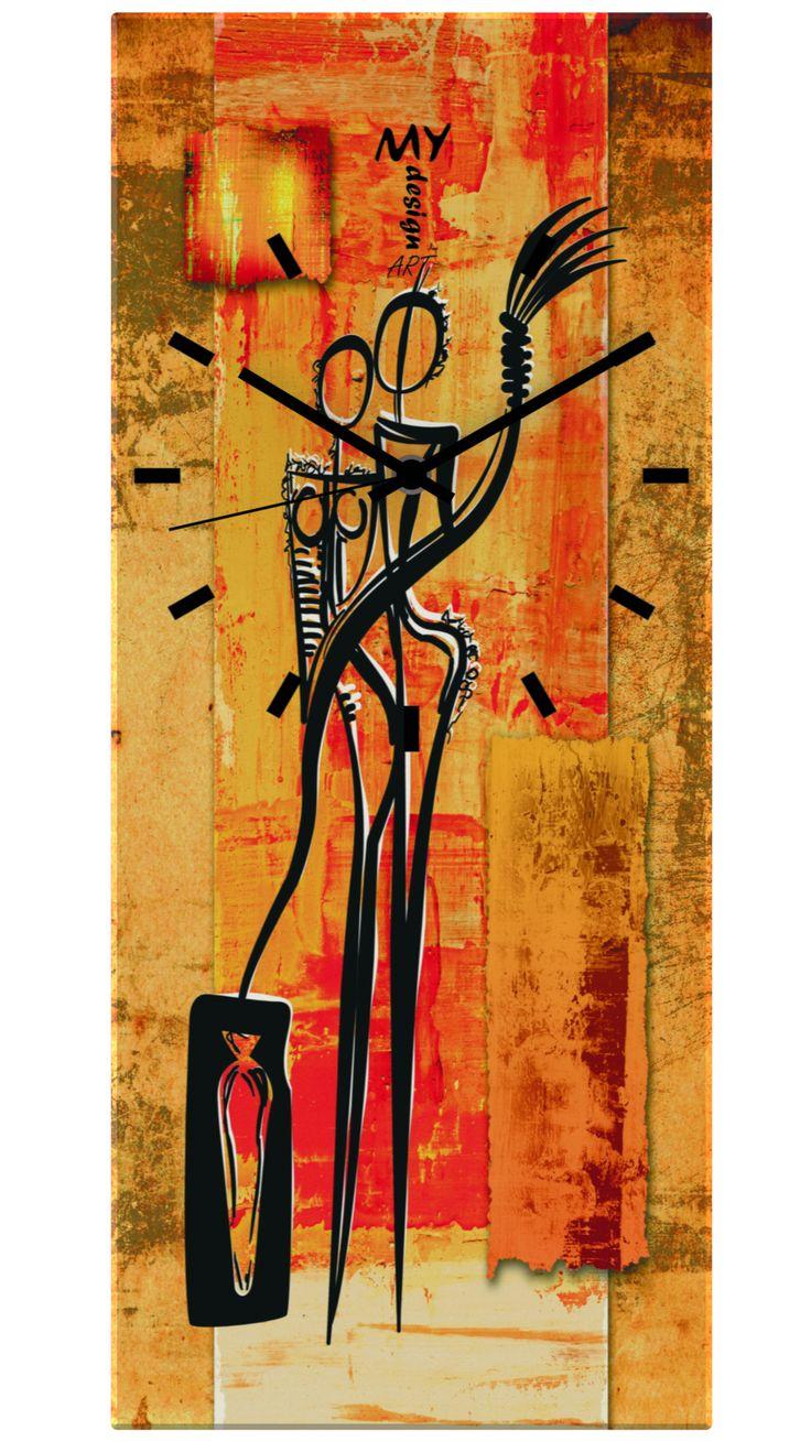 "Orologio da Parete ""Time"" Abstract Africar. by MyDesignArt. www.mydesignart.com"