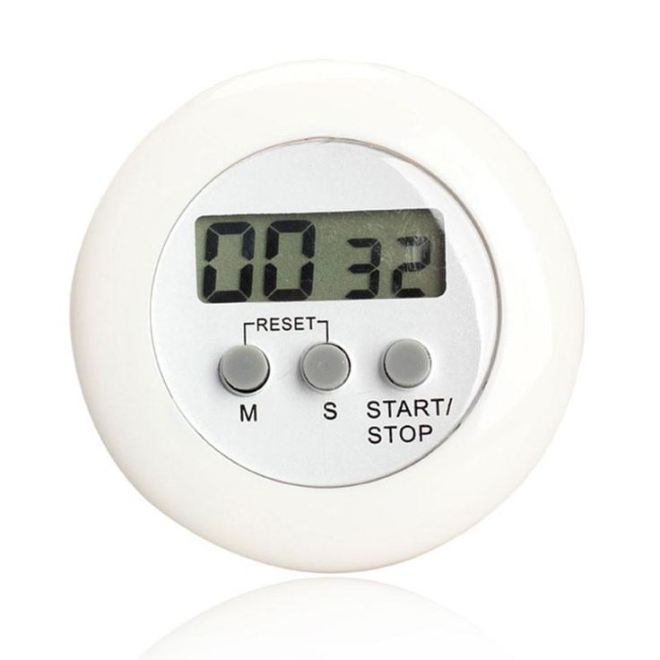 Round Magnetic LCD Digital Kitchen Countdown Timer Alarm with Stand White Kitchen Timer Practical Cooking Timer Alarm Clock
